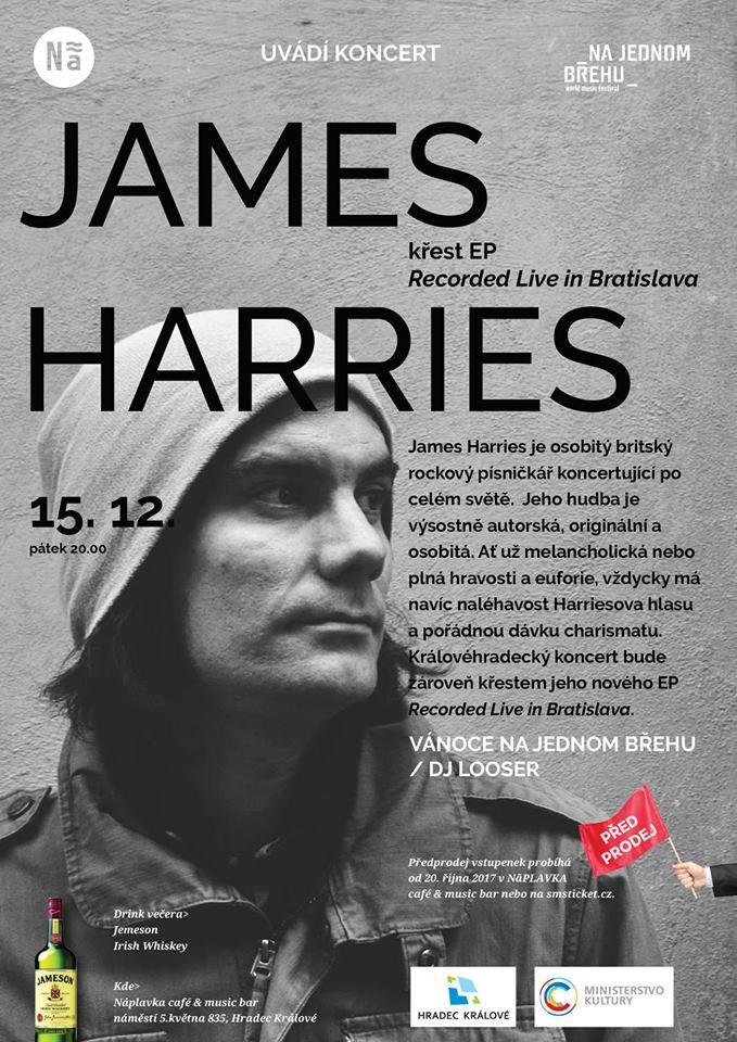 JAMES HARRIES NA NÁPLAVCE / KŘEST EP